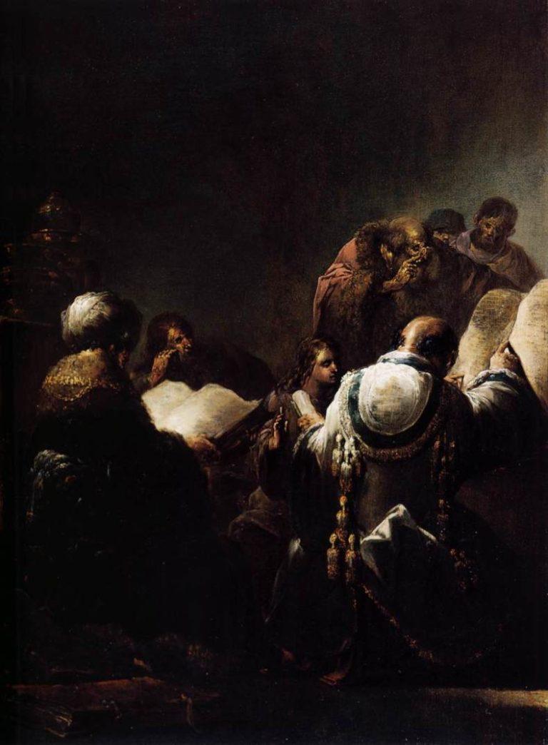 Христос среди учителей. 1640-1645