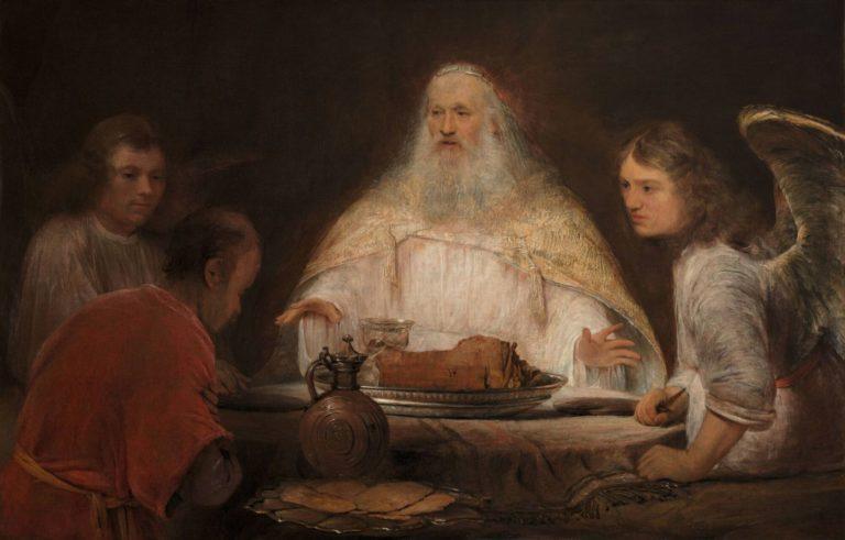 Посещение Авраама тремя ангелами. 1680-1685