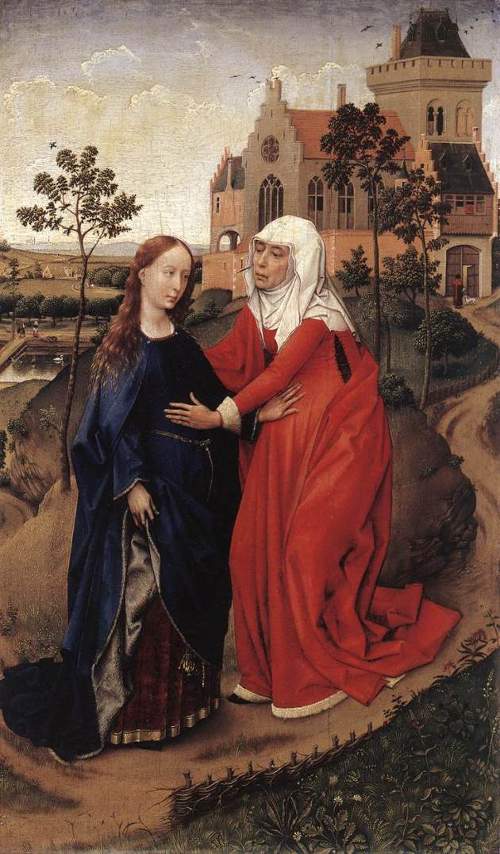 Посещение Елизаветы. Около 1445