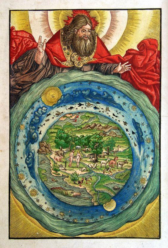 Сотворение мира. Иллюстрация к Библии Лютера. 1534