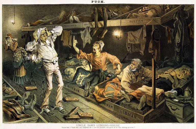 Дядя Сэм в ночлежке для бедных мигрантов