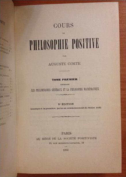 «Курс позитивной философии»