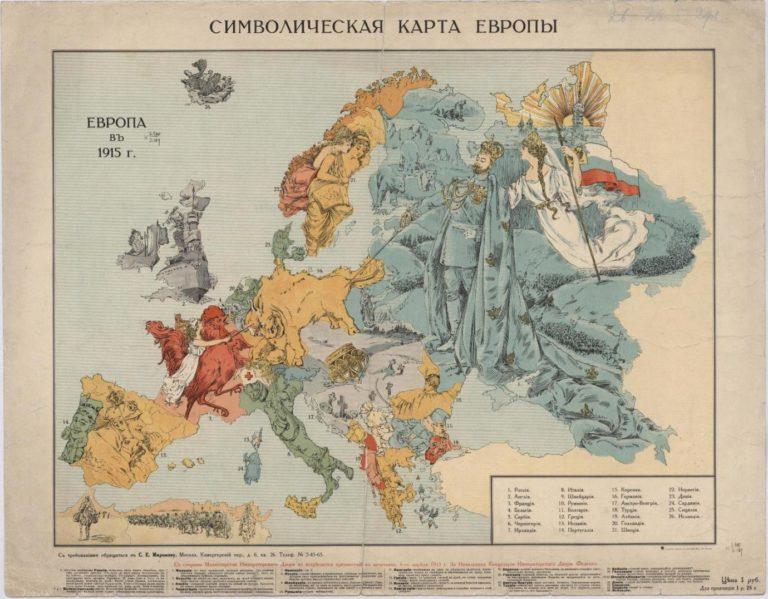 Символическая карта Европы 1915 г.