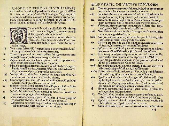 95 тезисов Мартина Лютера, раннее издание