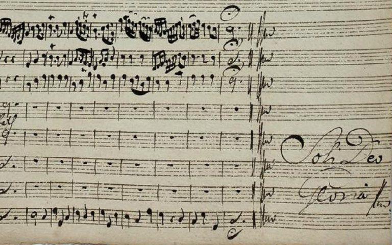 Автограф И.С. Баха с надписанием Solo Dei Gloria