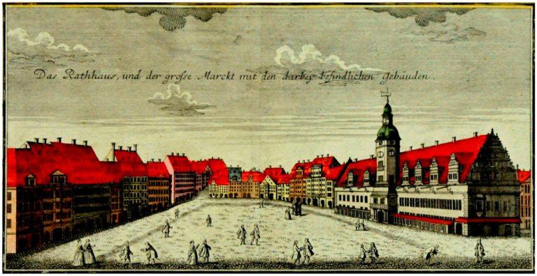 Лейпцигский рынок в 1749 году