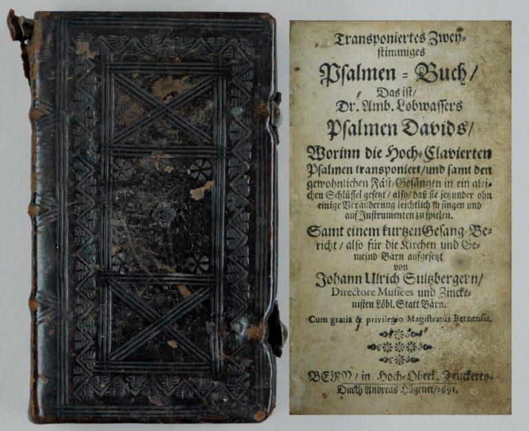 Псалтырь на немецком языке, 1691 г.