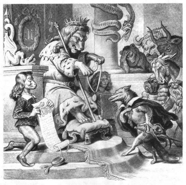 Иллюстрация к поэме Гёте «Рейнеке-лис»