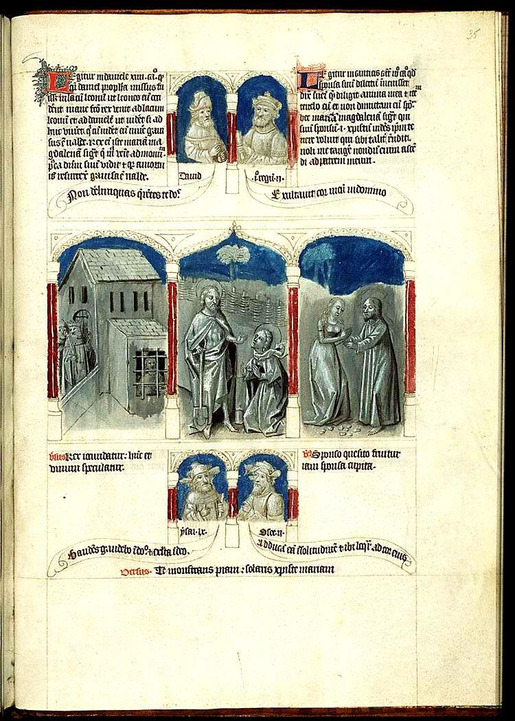 «Песнь Песней» в рукописной «Библии бедных» (Biblia pauperum), 1450 – 1455 гг.