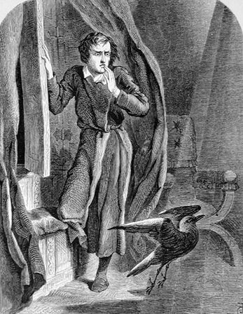 Иллюстрация к поэме «Ворон» Эдгара По