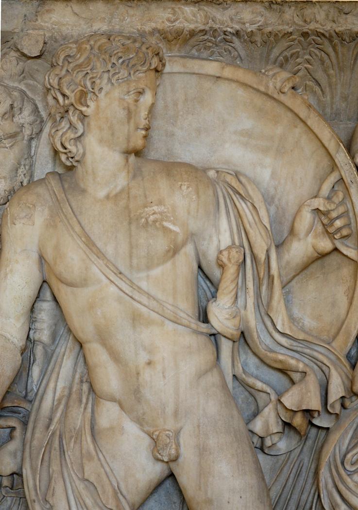 Ахилл при дворе царя Ликомеда, деталь
