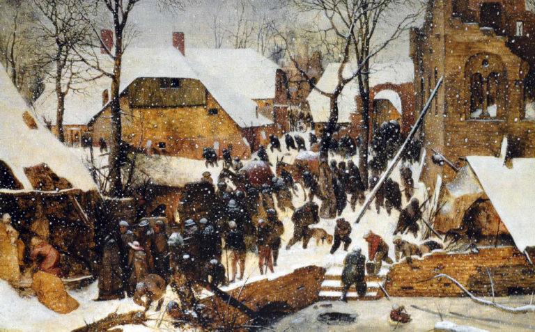 «Поклонение волхвов в зимнем пейзаже» (1567)