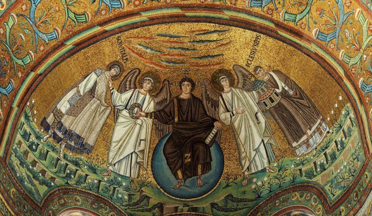 Юноша-Христос в окружении ангелов