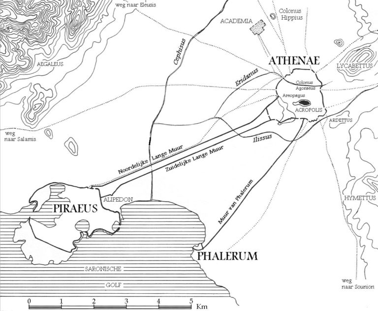 Платоновская Академия на карте древних Афин