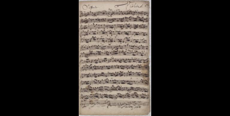 Симфония BWV 4. Партия первой скрипки