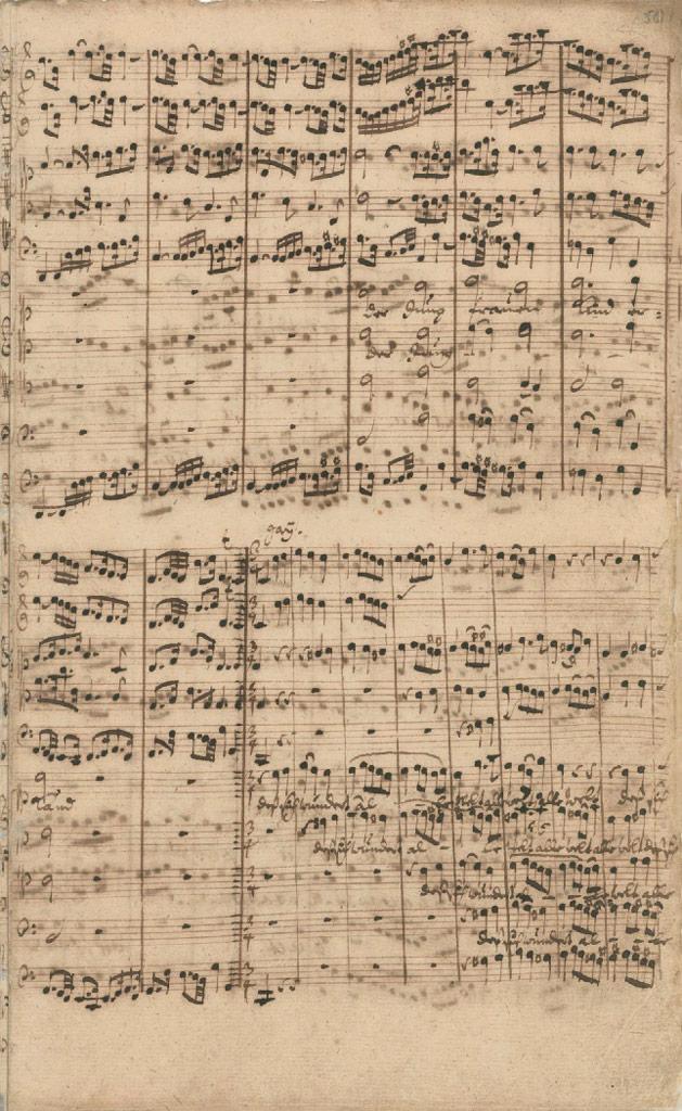 Партитура кантаты BWV 61 «Приди, язычников Спаситель» (1714)