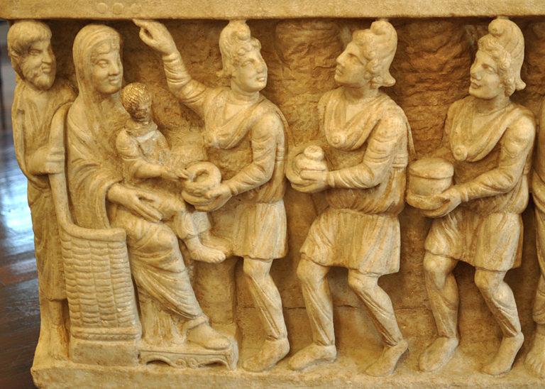 Саркофаг «Двух заветов» (IV в.)