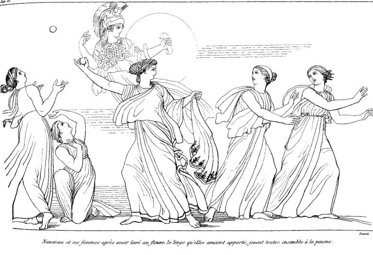 Навсикая играет в мяч (1810)