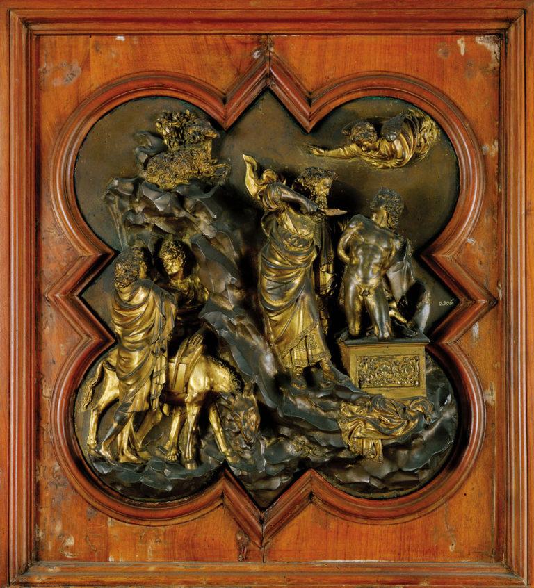 Восточные «Райские врата» флорентийского баптистерия (1401), деталь.