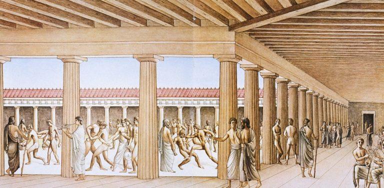 Древнегреческий гимнасий, современная реконструкция