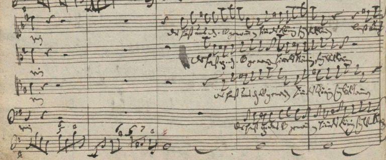 Рукопись кантаты BWV 182