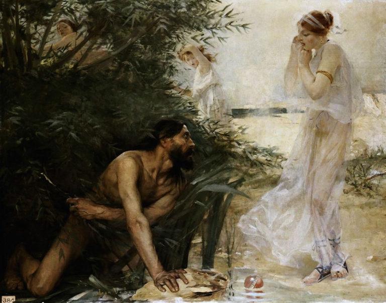 Одиссей подходит к Навсикае (1888)