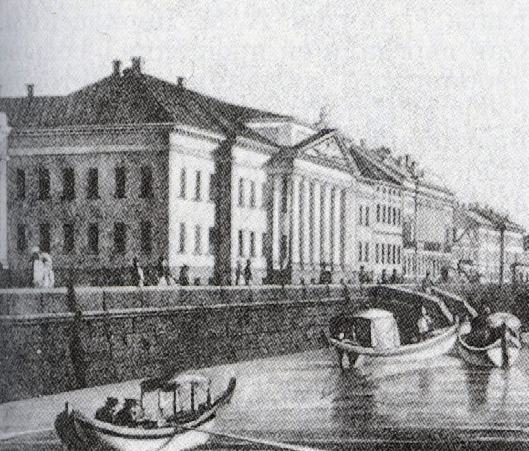 Санкт-Петербург, Английская набережная в 1820-е годы