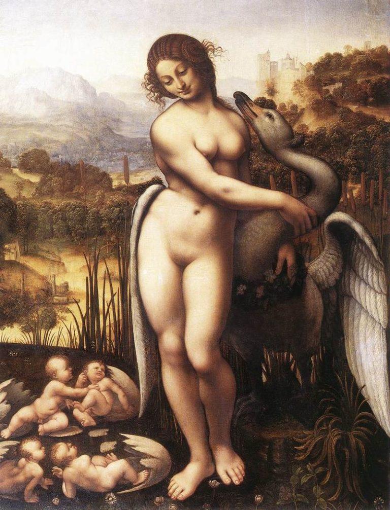 Леда и лебедь (1505-1510)