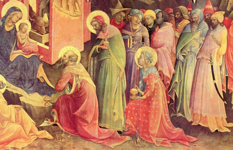 Поклонение волхвов (1420-1422; деталь), Флоренция