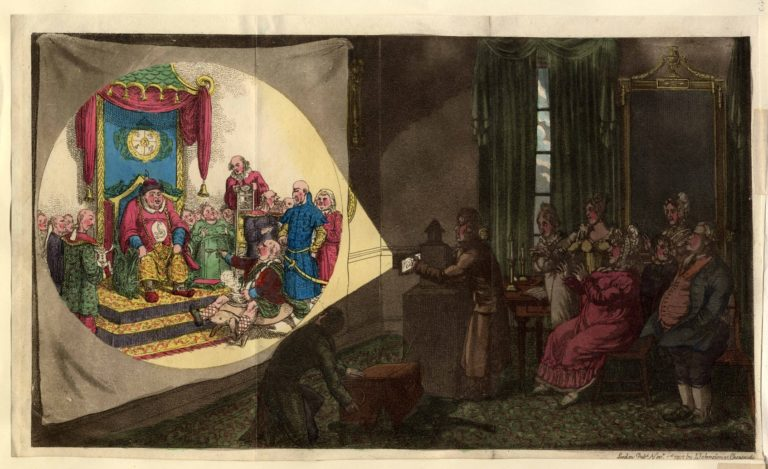 «Богатая лондонская семья смотрит картинки волшебного фонаря о китайском императоре» (1822)