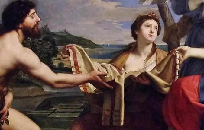 Одиссей и Навсикая (деталь)