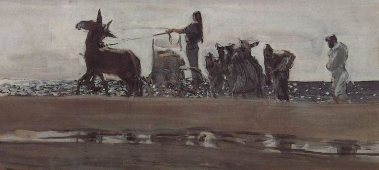 Одиссей и Навсикая (1910 г., деталь - отражение)