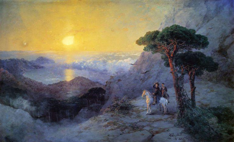 «А.С. Пушкин на вершине Ай-Петри при восходе солнца»