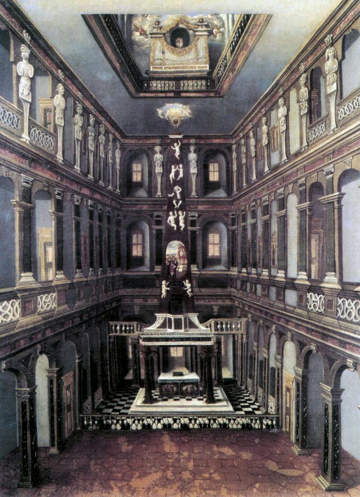 Барочная Шлосскирхе (придворная капелла), где служил И.С. Бах