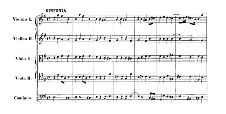 Партитура симфонии