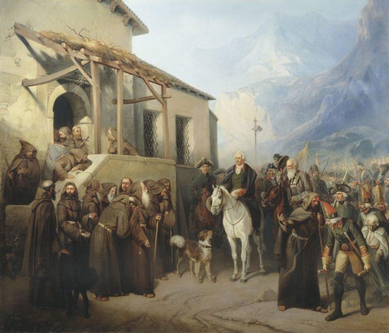 «Фельдмаршал Суворов на вершине Сен-Готарда 13 сентября 1799 года»