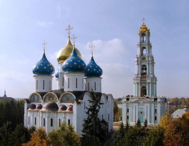 Успенский собор и колокольня Троице-Сергиевой лавры
