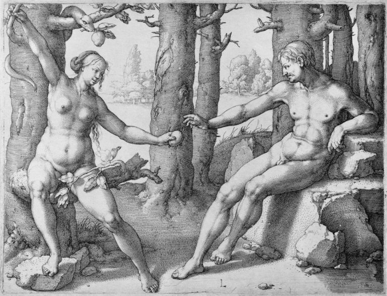 «Грехопадение» (1530; гравюра по меди)
