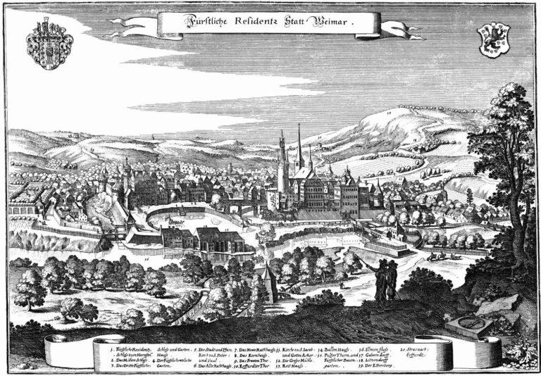 Веймар в 1650 году