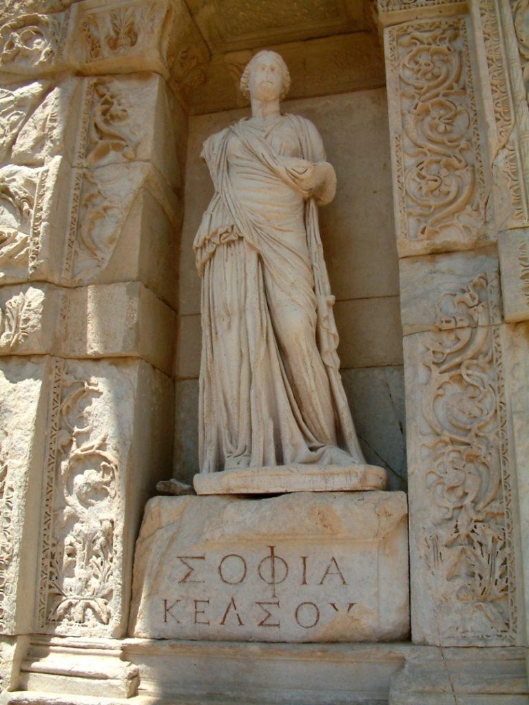 Аллегорическая скульптура Софии-Мудрости. 135 г. н.э.