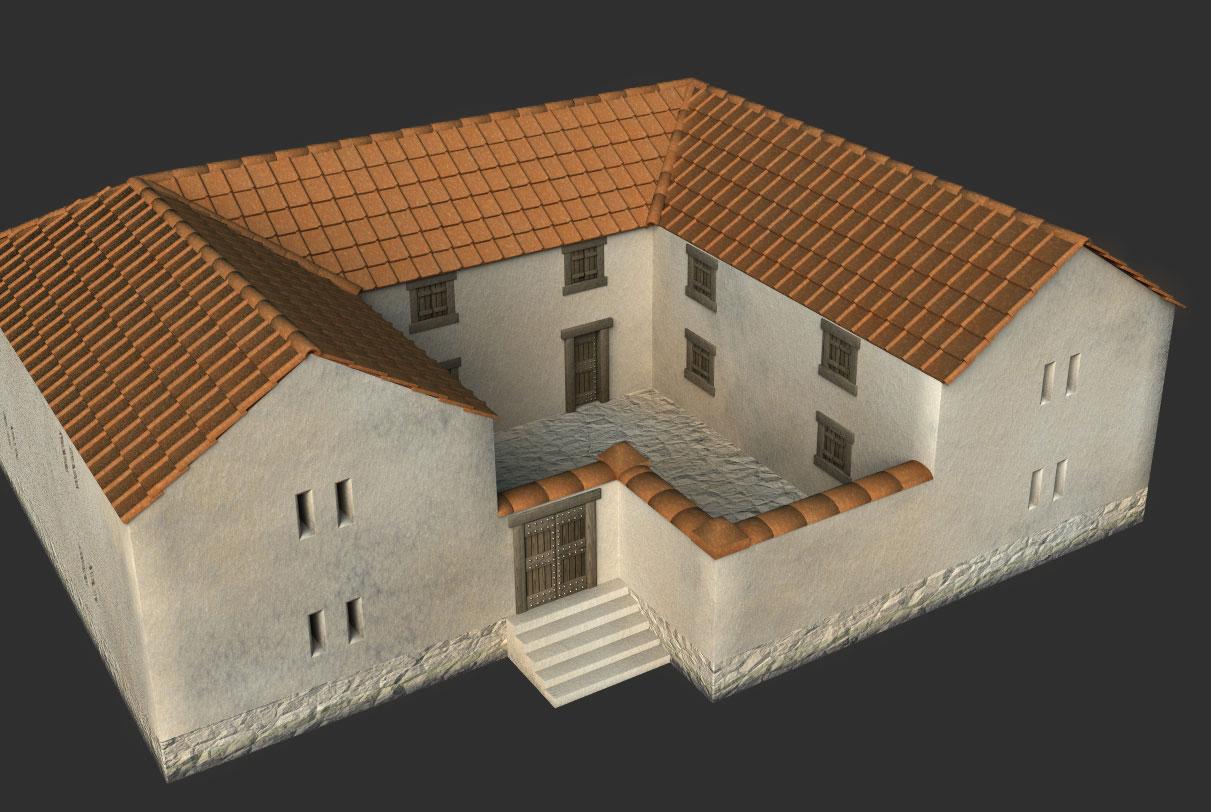 Схема древнегреческого дома