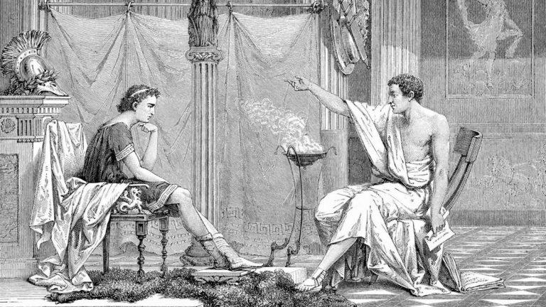 Аристотель и его ученик Александр (1876)