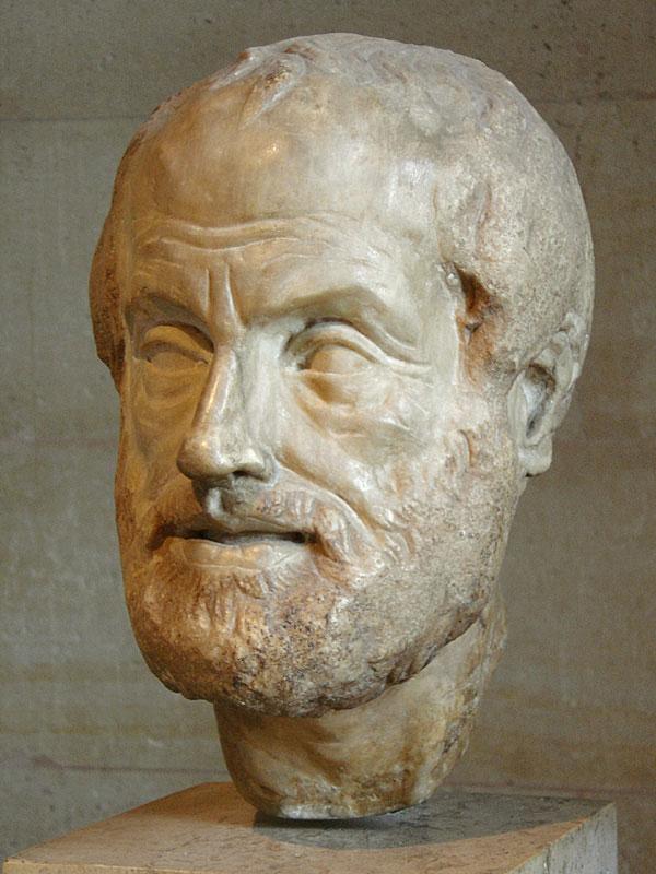 Скульптура головы Аристотеля