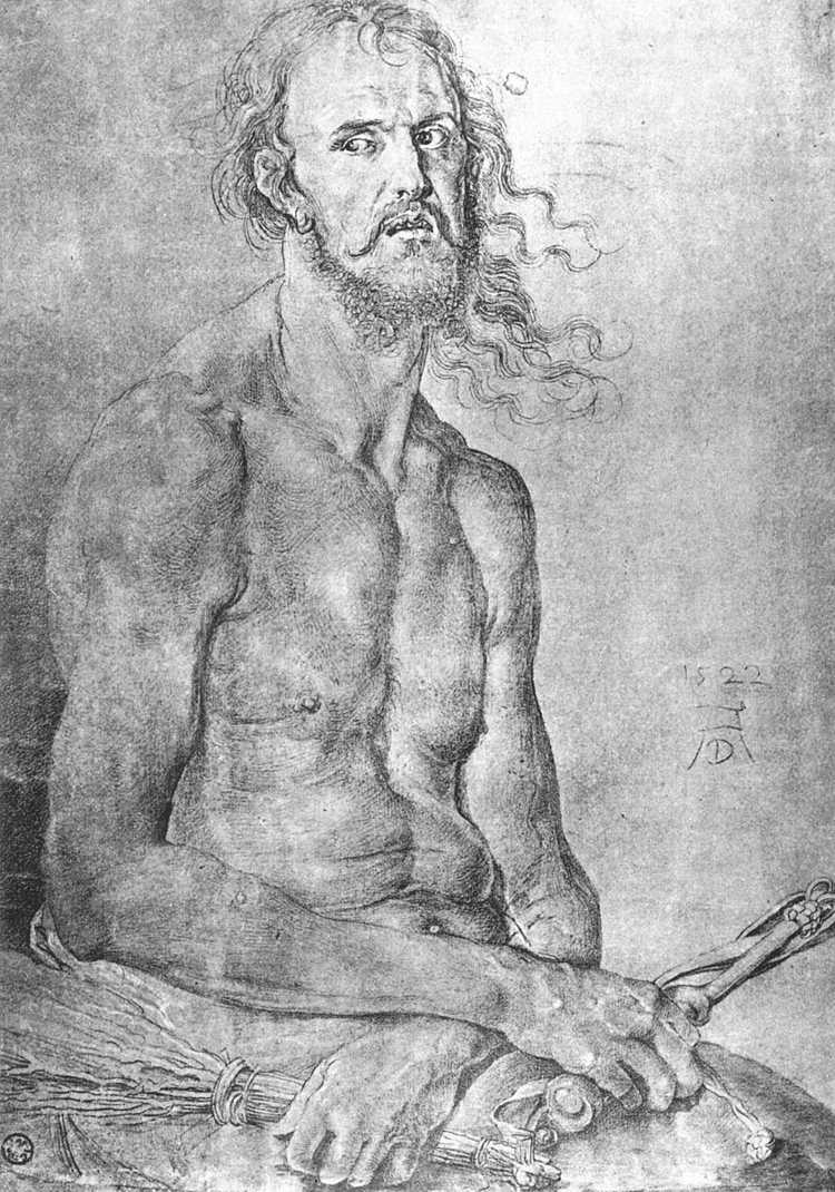 Автопортрет в образе Мужа Скорбей (1522)