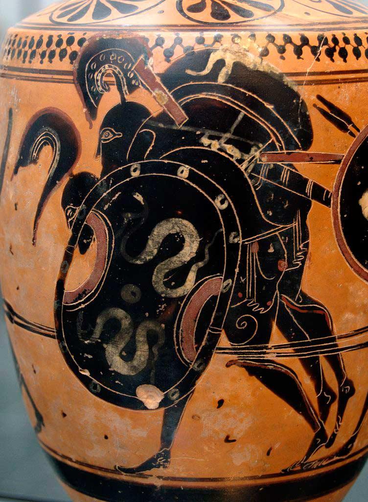 Аякс выносит из боя тело Ахилла (ок. 510 до н.э.)