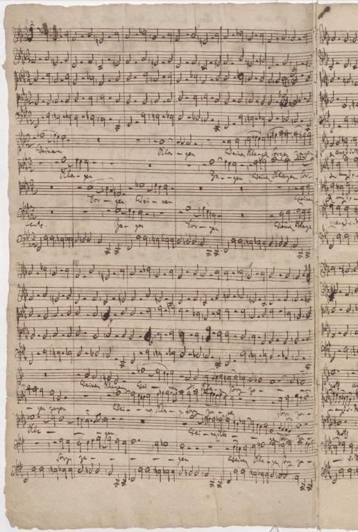 BWV 12. Партитура хора