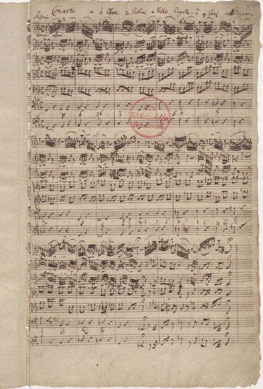 BWV 12. Партитура симфонии