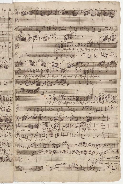 BWV 12. Партитура арии альта, лист 2