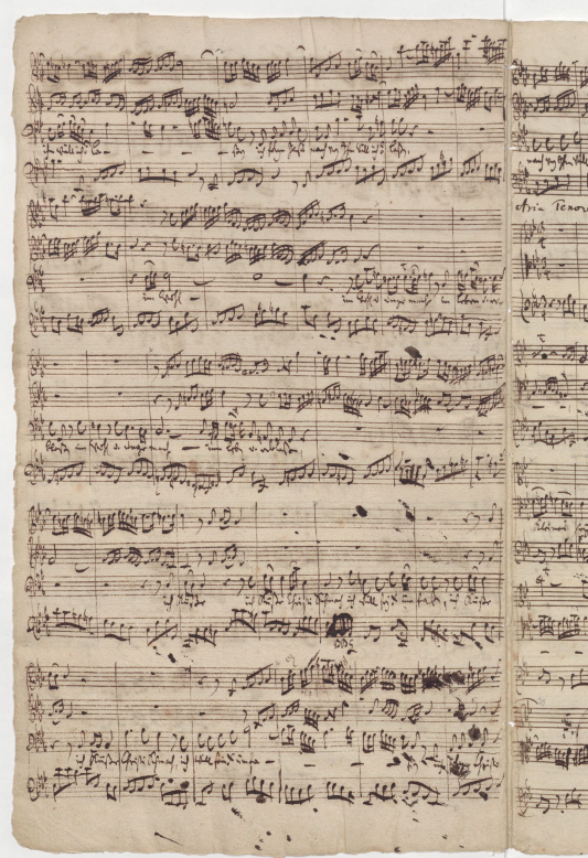 BWV 12. Партитура арии баса, лист 2