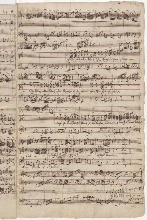 BWV 12. Партитура арии баса